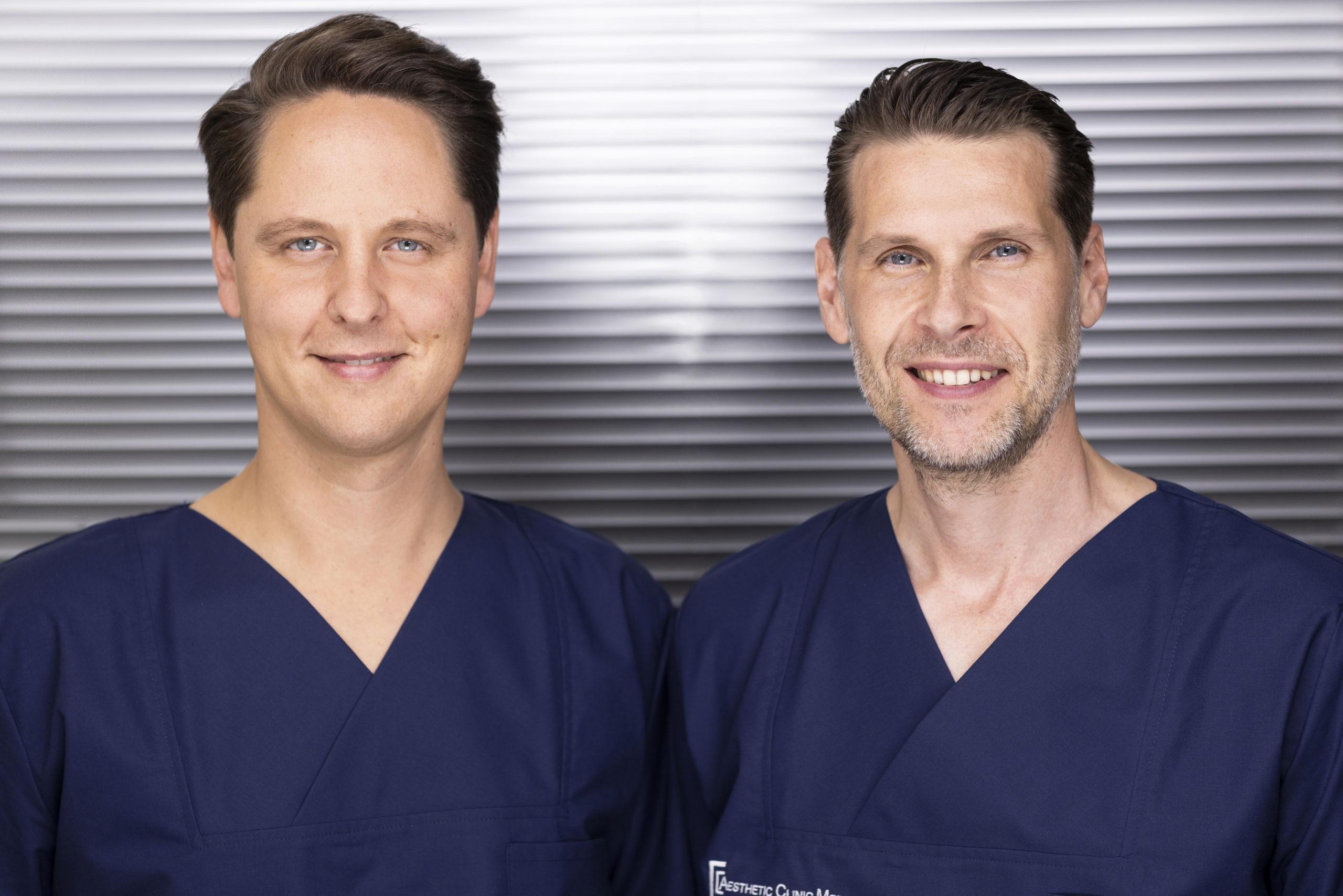Die Experten Dr. med. Stefan Rösler und Dr. med. Frederic Hecker sorgen gemeinsam dafür, dass Sie ein sehr gutes Ergebnis und eine einfühlsame Beratung erhalten.